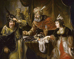 Esther - The Feast of Esther by Johannes Spilberg the Younger