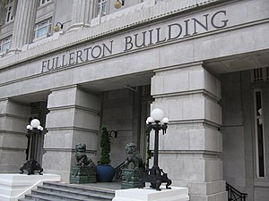 S. R. Nathan - The Fullerton Hotel Singapore, formerly Fullerton Building. Nathan worked in the building in the 1950s as the Seamen's Welfare Officer with the Marine Department. In recognition of this, during his state funeral procession his cortège passed by the building.