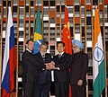The Leaders of BRIC countries, the President of Brazil, Mr. Lula da Silva, the President of Russia, Mr. Dmitry A. Medvedev, the Prime Minister of India, Dr. Manmohan Singh and the President of China (1).jpg