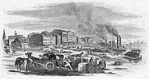 History of St. Louis (1804–65) - The St. Louis levee on the Mississippi River in 1857