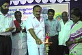 The Minister for Backward Classes, Tamil Nadu, Shri M.R.K. Panneerselvam lighting the kutthuvilakku to inaugurate the Bharat Nirman Public Information Campaign at Bhuvanagiri, Cuddalore, Tamil Nadu on August 27, 2006.jpg