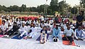 The Minister of State for Labour and Employment (IC), Shri Santosh Kumar Gangwar performing Yoga, on the occasion of the 4th International Day of Yoga 2018, at Bareilly, Uttar Pradesh on June 21, 2018.JPG