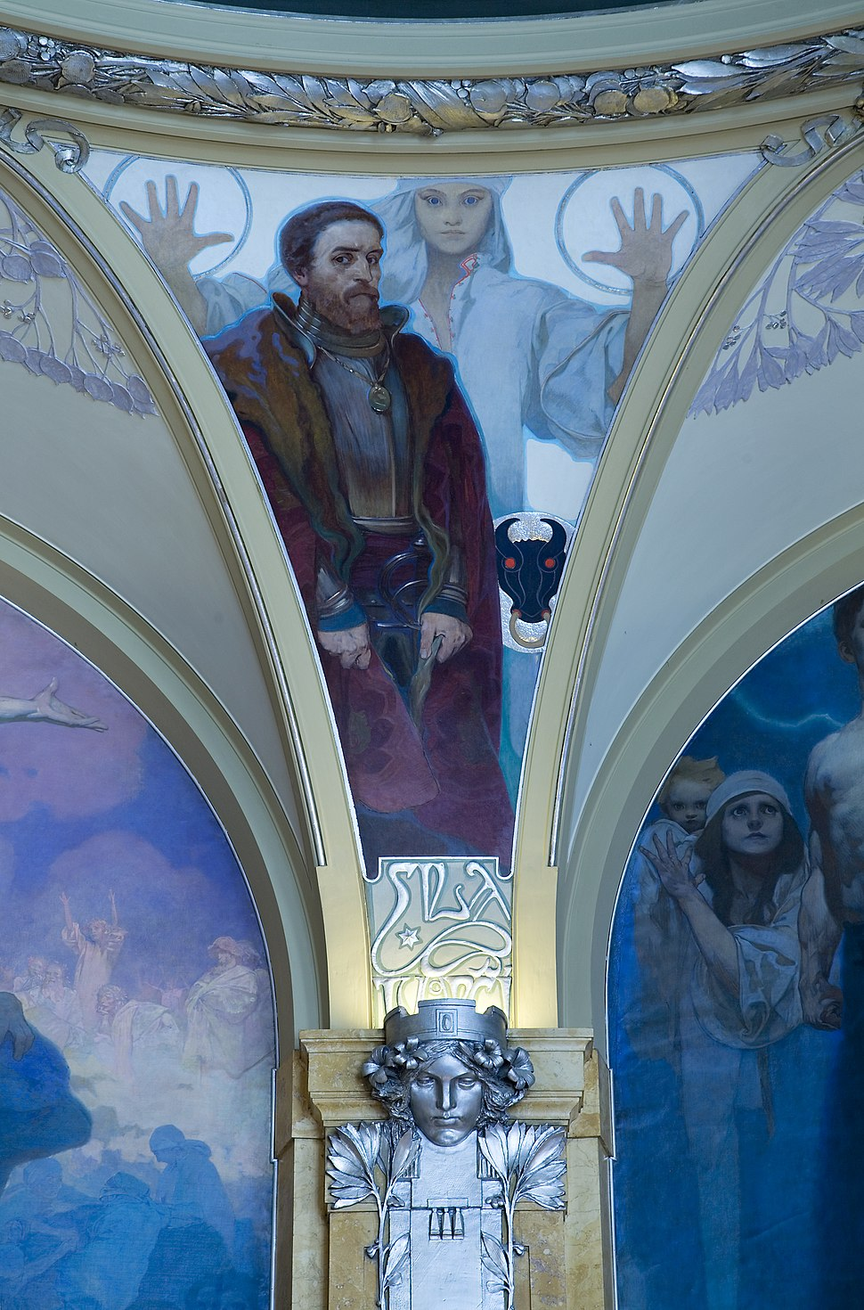 The Municipal House (Obecni Dum) ceiling, Prague - 8870