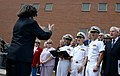 The Newport Navy Choristers sing the Star Spangled Banner during a 9-11 commemoration ceremony at Naval Station Newport, R.I., Sept 140911-N-PX557-099.jpg
