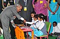 The President, Shri Pranab Mukherjee launched the Mid-Day Meal Scheme for Nursery & KG Classes of the Kalyan Kendra School at Kalyan Kendra of Rashtrapati Bhavan, in New Delhi on February 15, 2013.jpg