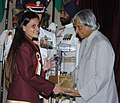 The President Dr. A.P.J. Abdul Kalam presenting the Arjuna Award -2005 to Ms. Anuja Prakash Thakur for Billiards & Snooker, at a glittering function in New Delhi on August 29, 2006.jpg