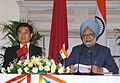 The Prime Minister, Dr. Manmohan Singh and the President of the People's Republic of China, Mr. Hu Jintao, at a joint press conference, in New Delhi on November 21, 2006.jpg