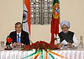 The Prime Minister, Dr. Manmohan Singh with the Prime Minister of Portugal, Mr. Jose Socrates at a Joint Press Conference, in New Delhi on December 01, 2007.jpg