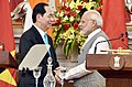 The Prime Minister, Shri Narendra Modi and the President of the Socialist Republic of Vietnam, Mr. Tran Dai Quang, during the Joint Press Statement, at Hyderabad House, in New Delhi on March 03, 2018 (2).jpg