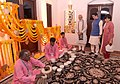 The Prime Minister, Shri Narendra Modi and the Prime Minister of Japan, Mr. Shinzo Abe witness the playing of the 'Jal Tarang', in Ahmedabad, Gujarat on September 13, 2017 (1).jpg