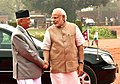 The Prime Minister of Nepal, Shri K.P. Sharma Oli with the Prime Minister, Shri Narendra Modi, at the Ceremonial Reception, at Rashtrapati Bhavan, in New Delhi on February 20, 2016 (3).jpg