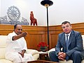 The Russian Defence Minister, Mr. A.E. Serdyukov calls on the Defence Minister, Shri A. K. Antony, in New Delhi on October 10, 2012.jpg