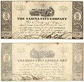 The Sabina City Company $100 (one hundred dollars) municipal scrip (8518746735).jpg