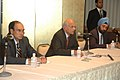 The Secretary, External Affairs, Shri Shivshankar Menon briefing the Press on the outcomes of the meeting of the leaders of five Outreach Countries (O-5) during G-8 Summit, at Sapporo, Japan on July 08, 2008.jpg
