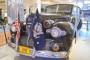 Sunshine Special (automobile) - FDR's 1939 Lincoln K Series Presidential Limousine.
