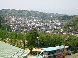 View of Kawamata Town