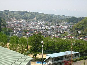 The Town of Kawamata, Japan, Looking West.JPG