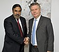 The Union Minister for Commerce & Industry and Textiles, Shri Anand Sharma with the European Union Trade Commissioner, Mr. Karel De Gucht, in Brussels on June 26, 2012.jpg