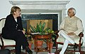 The Vice President, Mohammad Hamid Ansari meeting with the Chancellor of Germany, Ms. Angela Merkel, in New Delhi on October 30, 2007.jpg