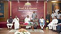 The Vice President, Shri M. Venkaiah Naidu at an event to give farewell to the Deputy Chairman of Rajya Sabha, Prof. P.J. Kurien, in New Delhi.JPG