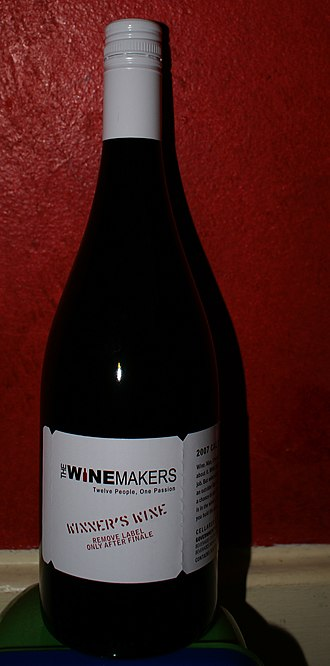 The Winemakers - Bottle of the winning wine from the 1st season