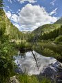 The alpine Lizard Lake at the base Sheep Mountain and Hat Mountain, high above the tiny community of Marble in Gunnison County, Colorado LCCN2015633480.tif