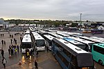 The coach park at Wembley Stadium,