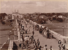 The entrance bridge to the City of Hyderabad (c. 1880s).jpg