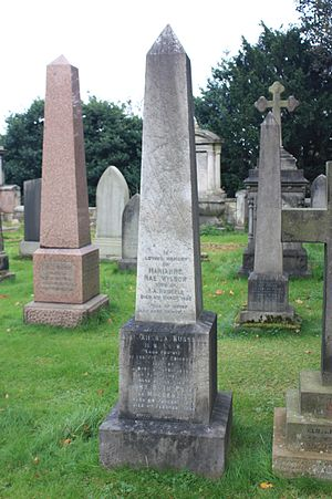 James Russell (Scottish politician) - The grave of Sir James Russell, Dean Cemetery