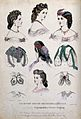 The heads and shoulders of five women wearing their hair dre Wellcome V0019898.jpg