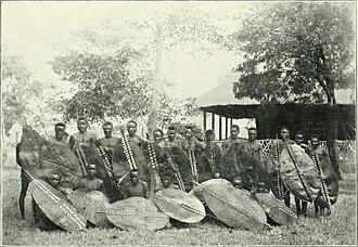 Soshangane - Warriors of the Angoni (or Abanguni), descendants of Zwangendaba's clan, photographed towards the end of the 19th century