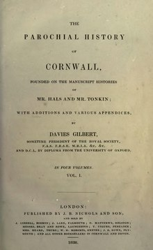 The parochial history of Cornwall.djvu