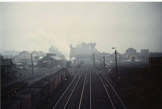 The railway yards at Ashington colliery. - geograph.org.uk - 292486