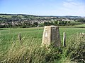 The trig point at Old Howden Strip overlooking Jedburgh - geograph.org.uk - 240988.jpg