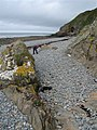 The view of St Ninian's Cave from half way down the beach - geograph.org.uk - 173882.jpg