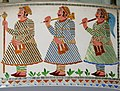 Three men in traditional dress, mosaic, Udaipur, Rajasthan, India.jpg