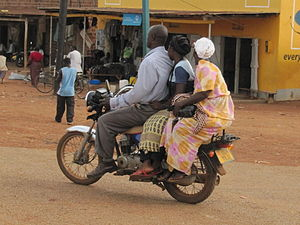 Boda boda - Image: Three persons on boda boda