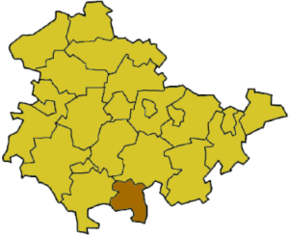 Poziția localității Sonneberg (district)