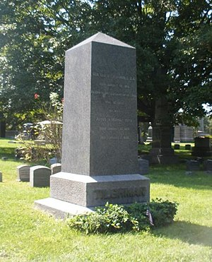 Lloyd Tilghman - Tilghman monument in Woodlawn Cemetery, the Bronx