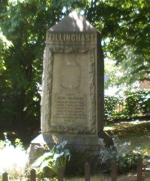 Pardon Tillinghast - Grave monument for Elder Pardon Tillinghast, Benefit Street, Providence