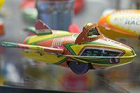 Tin toy flying jet car (24826488783).jpg