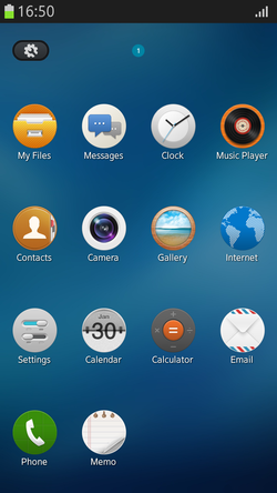 Tizen 2.2 beta screen