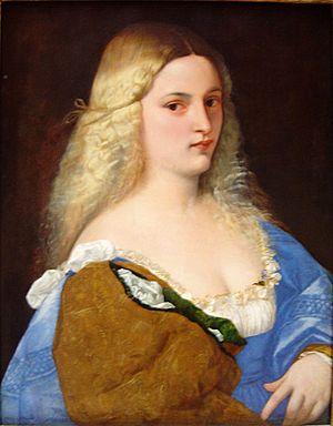 Violante (Titian) - Image: Tizian Violante dsc 01834