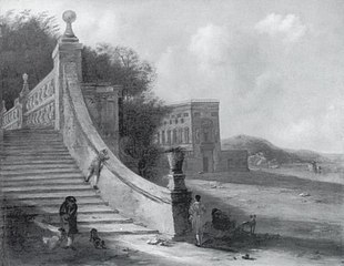 Palace with Outdoor Stairs at the Sea
