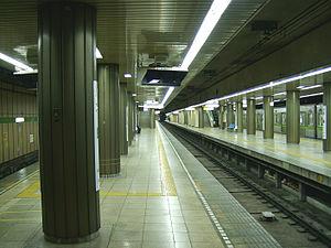Ojima Station - Ojima Station platforms