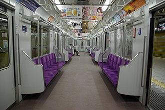 Tokyo Metro 08 series - Image: Tokyo Metro 08 interior