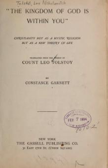 Tolstoy - The Kingdom of God.djvu