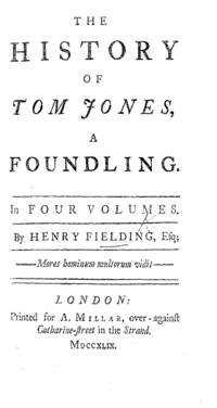 The History of Tom Jones, a Foundling cover