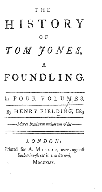 The History of Tom Jones, a Foundling - Title page from the 1749 edition