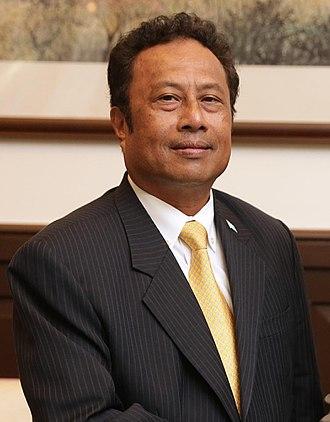 President of Palau - Image: Tommy Remengesau 2016
